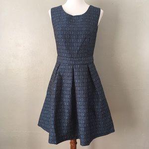 Forever 21 Cutout Back Skater Skirt Dress Blue
